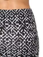 Czarno-biała wzorzysta spódnica ołówkowa                                  zdj.                                  6