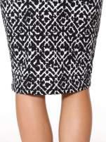 Czarno-biała wzorzysta spódnica ołówkowa                                  zdj.                                  7
