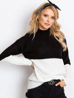 Czarno-biały sweter Taylor                                  zdj.                                  1