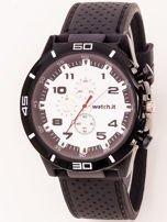 Czarno-biały zegarek męski                                   zdj.                                  1