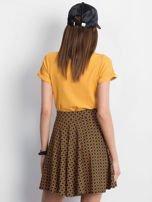 Czarno-brązowa spódnica Shiny                                  zdj.                                  2