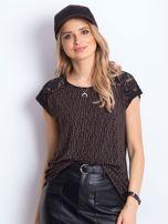 Czarno-brązowy t-shirt Hattie                                  zdj.                                  3