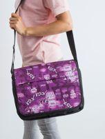 Czarno-fioletowa torba na ramię                                  zdj.                                  1