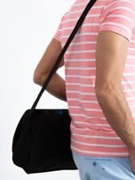 Czarno-niebieska męska torba na ramię                                  zdj.                                  2