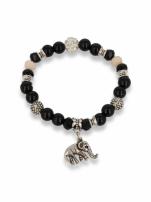 Czarno  - srebrna Bransoletka koralikowa                                  zdj.                                  1