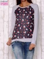 Czarno-szara bluza z nadrukiem pand                                                                          zdj.                                                                         1