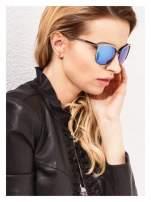 Czarno-złote klasyczne damskie okulary przeciwsłoneczne lustrzanki                                                                          zdj.                                                                         2