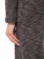 Czarny melanżowy sweter typu długi kardigan                                                                          zdj.                                                                         9