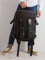 Czarny męski plecak podróżny                                  zdj.                                  2