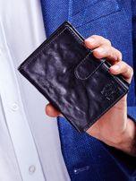 Czarny męski portfel na zatrzask                                  zdj.                                  1