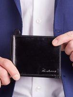 Czarny męski portfel poziomy                                  zdj.                                  1