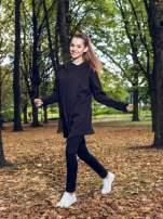 Czarny płaszcz dresowy z kapturem                                                                          zdj.                                                                         11