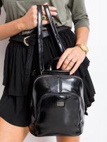 Czarny plecak damski ze skóry ekologicznej                                  zdj.                                  1