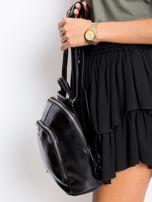 Czarny plecak damski ze skóry ekologicznej                                  zdj.                                  3