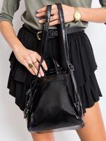 Czarny plecak damski ze skóry ekologicznej                                  zdj.                                  2