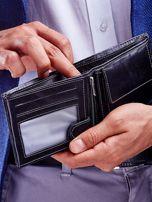 Czarny portfel dla mężczyzny z klapką                                  zdj.                                  3