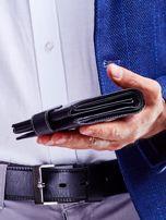 Czarny portfel dla mężczyzny z klapką                                  zdj.                                  6