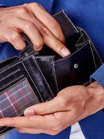 Czarny portfel męski na suwak                                  zdj.                                  4