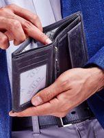 Czarny portfel męski przecierany                                  zdj.                                  6