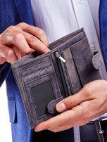 Czarny portfel skórzany dla mężczyzny                                   zdj.                                  3