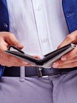 Czarny portfel skórzany dla mężczyzny                                   zdj.                                  4