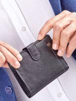 Czarny rozkładany portfel ze skóry                                  zdj.                                  13