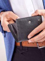 Czarny rozkładany portfel ze skóry                                  zdj.                                  3
