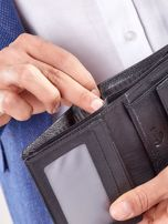 Czarny rozkładany portfel ze skóry                                  zdj.                                  6