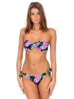Czarny strój kąpielowy bikini w kwiaty                                  zdj.                                  1