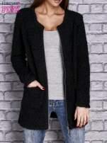 Czarny sweter long hair zapinany na suwak                                  zdj.                                  5