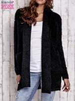 Czarny sweter oversize z kieszeniami                                                                          zdj.                                                                         1