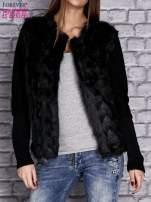 Czarny sweter z futerkiem                                  zdj.                                  1