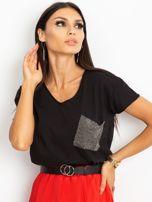 Czarny t-shirt Shelly                                  zdj.                                  1