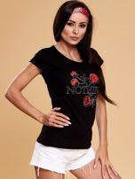 Czarny t-shirt damski NOTHING                                  zdj.                                  6