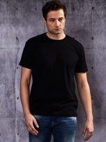 Czarny t-shirt męski                                   zdj.                                  5