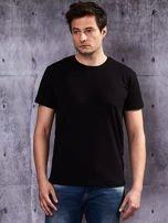 Czarny t-shirt męski basic                                  zdj.                                  1