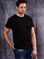Czarny t-shirt męski basic                                  zdj.                                  4