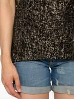 Czarny t-shirt w złote plamki                                  zdj.                                  6