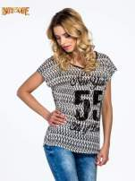 Czarny t-shirt z napisem NEW YORK CITY OF LOVE 55                                  zdj.                                  3