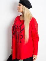 Czerwona bluza plus size Lounge                                  zdj.                                  3