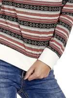 Czerwona bluza w azteckie wzory                                  zdj.                                  6