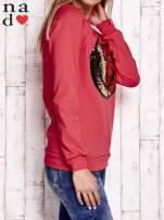 Czarna bluza z dwustronną naszywką z cekinów                                                                          zdj.                                                                         4