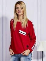 Czerwona bluza z kolorowymi wstawkami                                  zdj.                                  5