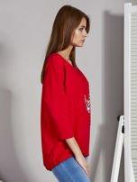 Czerwona bluza z motywem motyli                                  zdj.                                  5