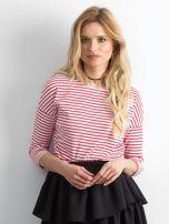 Czerwona bluzka damska w paski                                  zdj.                                  1