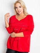 Czerwona bluzka plus size Shay                                  zdj.                                  3