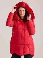 Czerwona damska kurtka zimowa                                  zdj.                                  6
