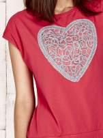 Czerwona dresowa sukienka tenisowa z sercem                                  zdj.                                  5