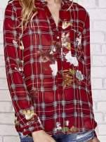 Czerwona koszula w kratę z kwiatami                                  zdj.                                  5