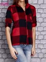 Czerwona koszula w szeroką kratę                                  zdj.                                  3